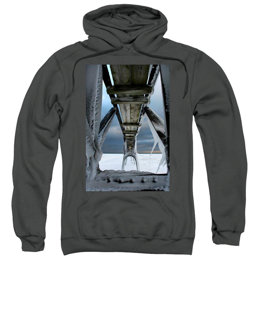 Manistee Sweatshirt featuring the photograph Catwalk by Allan Lovell