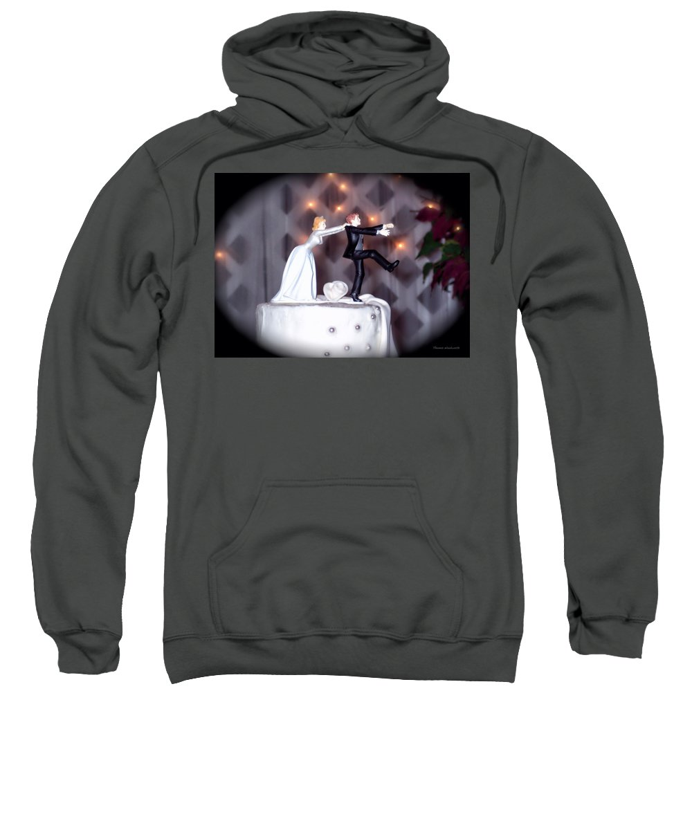 Wedding Sweatshirt featuring the photograph Caught by Thomas Woolworth