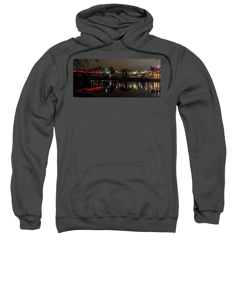 Panorama Sweatshirt featuring the photograph Caveman Bridge And Taprock At Christmas - Panorama by Mick Anderson
