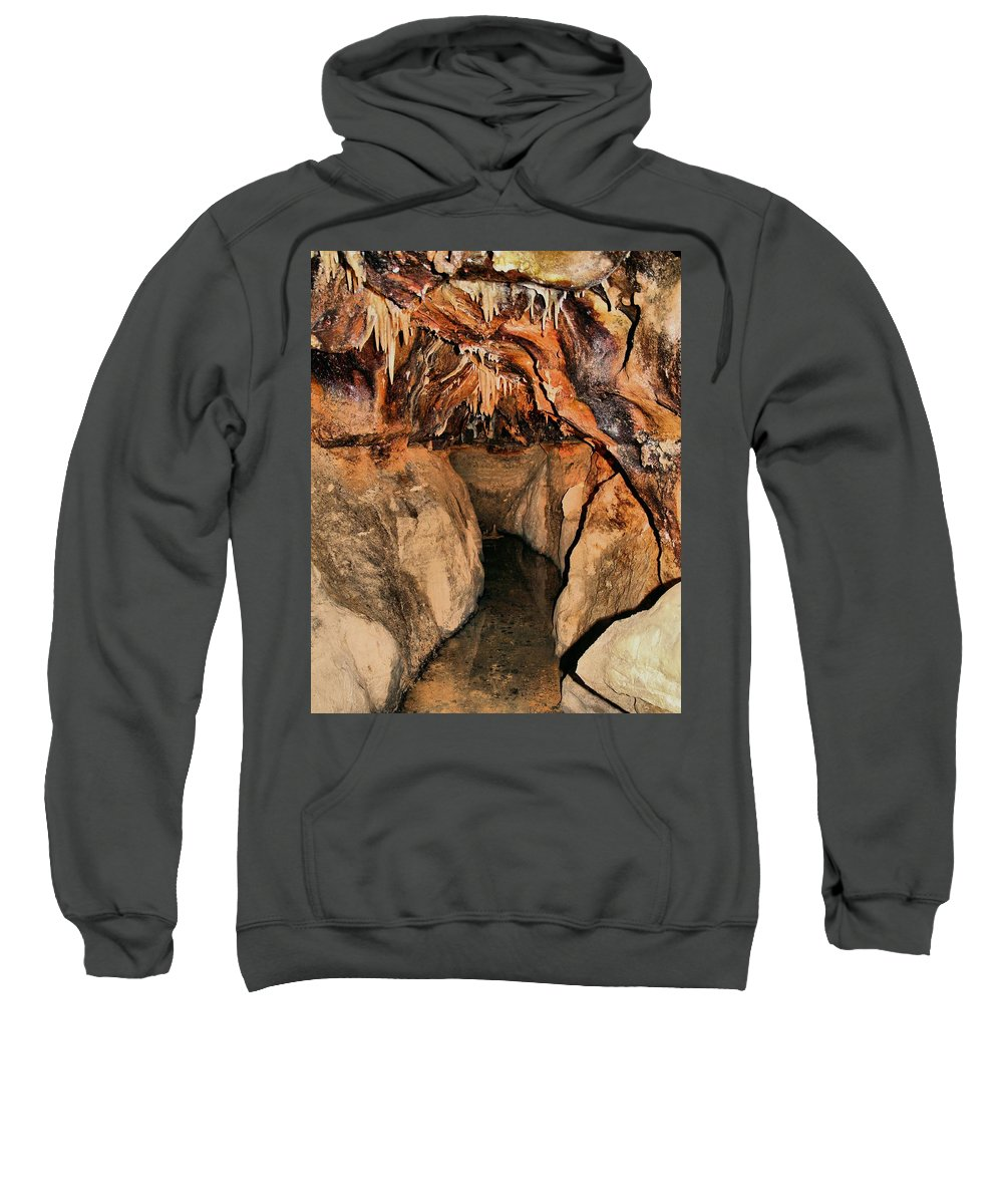 Caverns Sweatshirt featuring the photograph Cavern Path by Dan Sproul