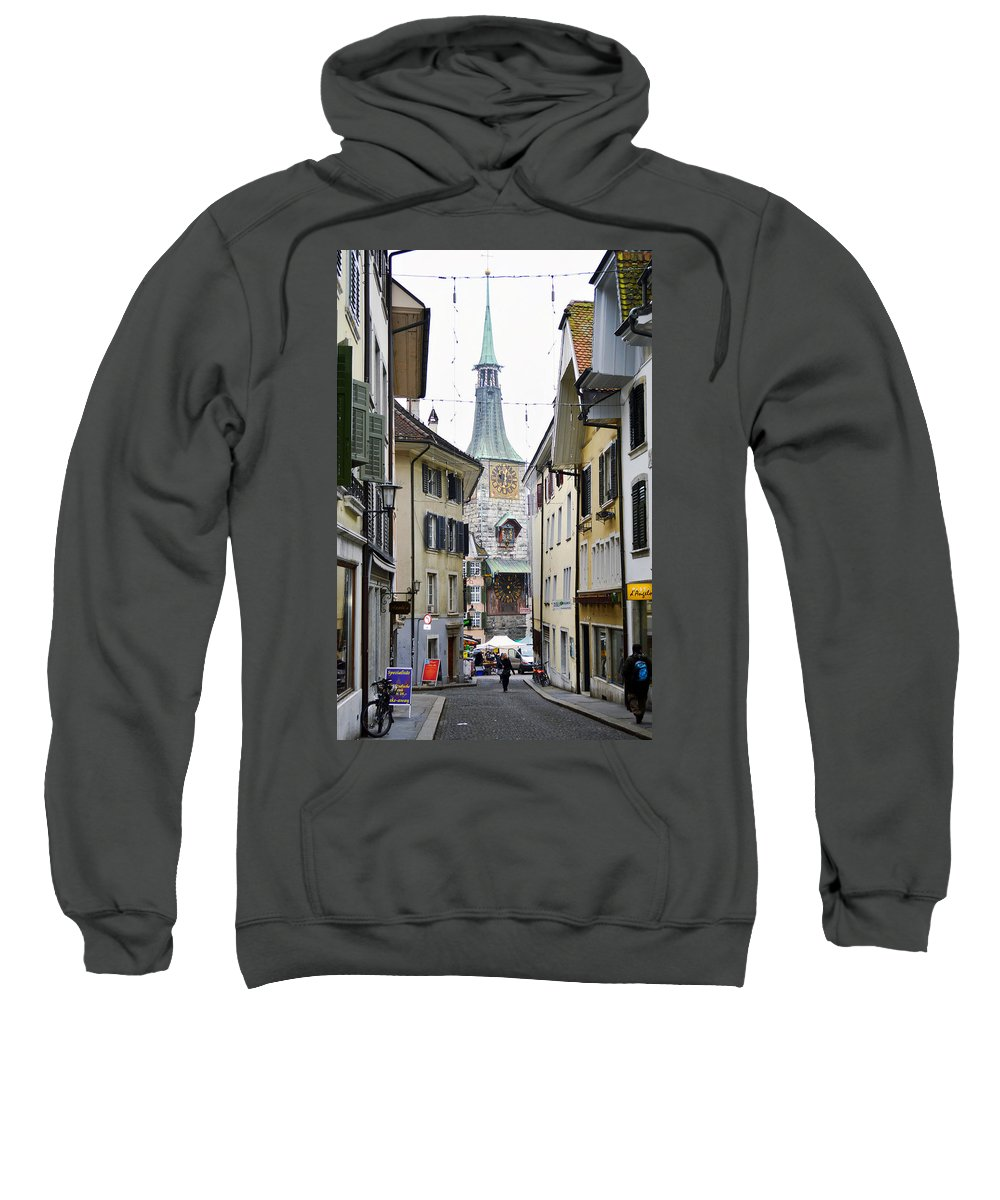 Town Sweatshirt featuring the photograph Celebrating Time by Felicia Tica