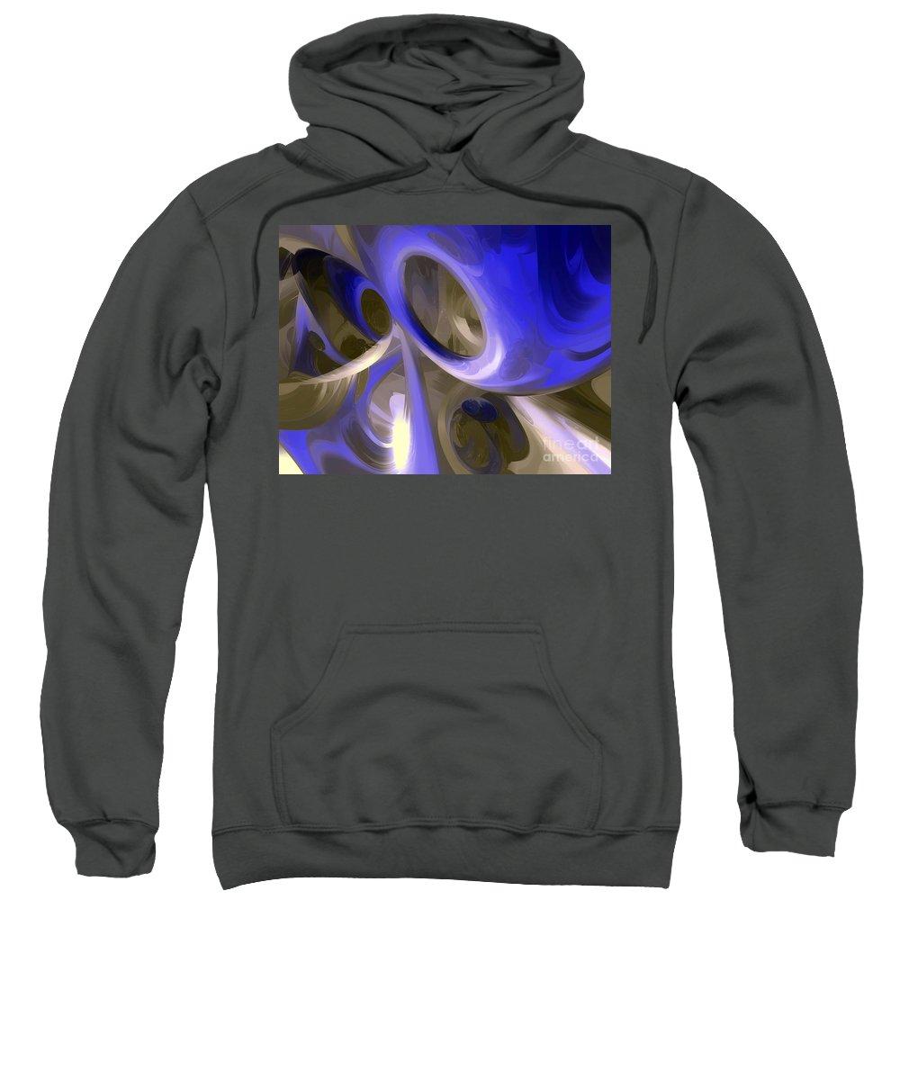 Cgi Sweatshirt featuring the digital art Cerulean Abstract by Alexander Butler