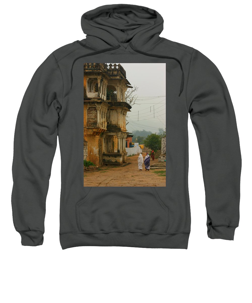 Market Sweatshirt featuring the photograph Chanderi by Amanda Stadther
