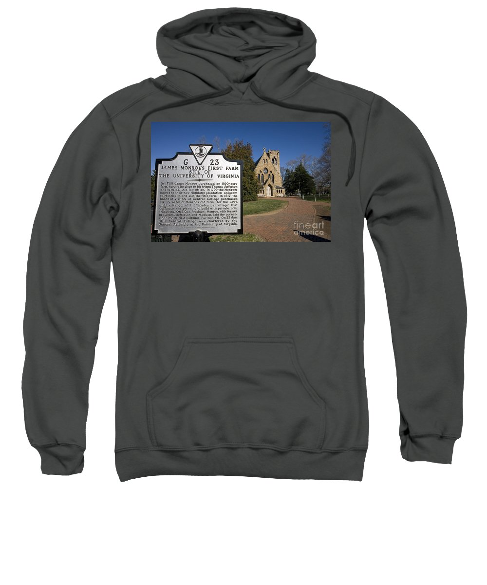 University Of Virginia Sweatshirt featuring the photograph Chapel University Of Virginia by Jason O Watson