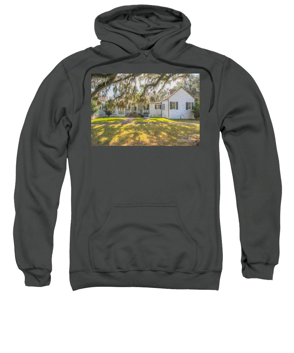 Charles Pinckney Sweatshirt featuring the photograph Charles Pickney Plantation by Dale Powell