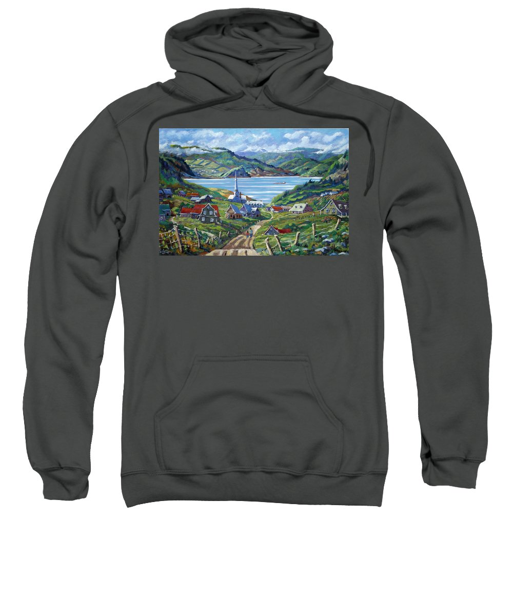 Sweatshirt featuring the painting Charlevoix Scene by Richard T Pranke