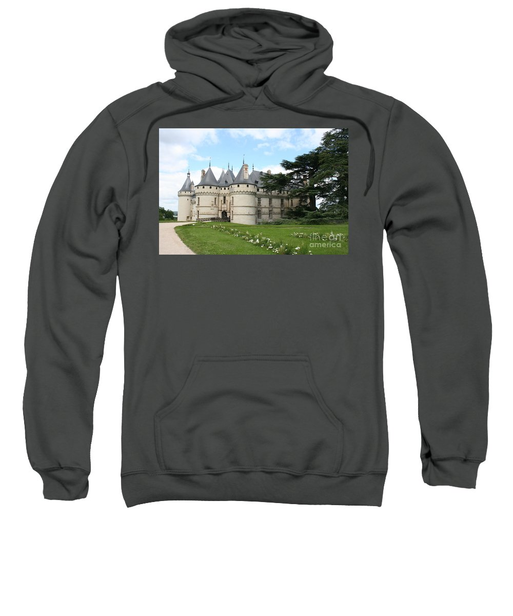 Palace Sweatshirt featuring the photograph Chateau Chaumont From The Garden by Christiane Schulze Art And Photography