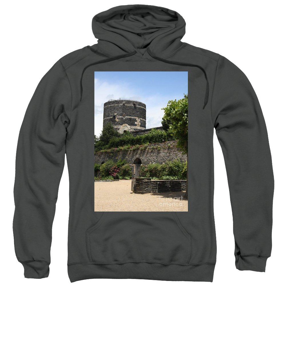Castle Sweatshirt featuring the photograph Chateau D'angers Tower by Christiane Schulze Art And Photography