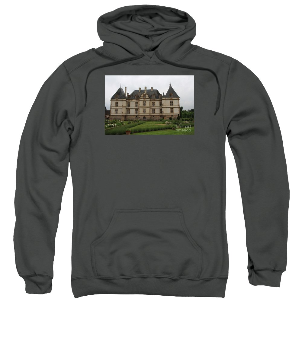 Palace Sweatshirt featuring the photograph Chateau De Cormatin And Garden - Burgundy by Christiane Schulze Art And Photography