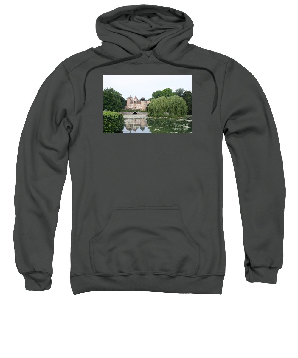 Palace Sweatshirt featuring the photograph Chateau De Sercy - Burgundy by Christiane Schulze Art And Photography