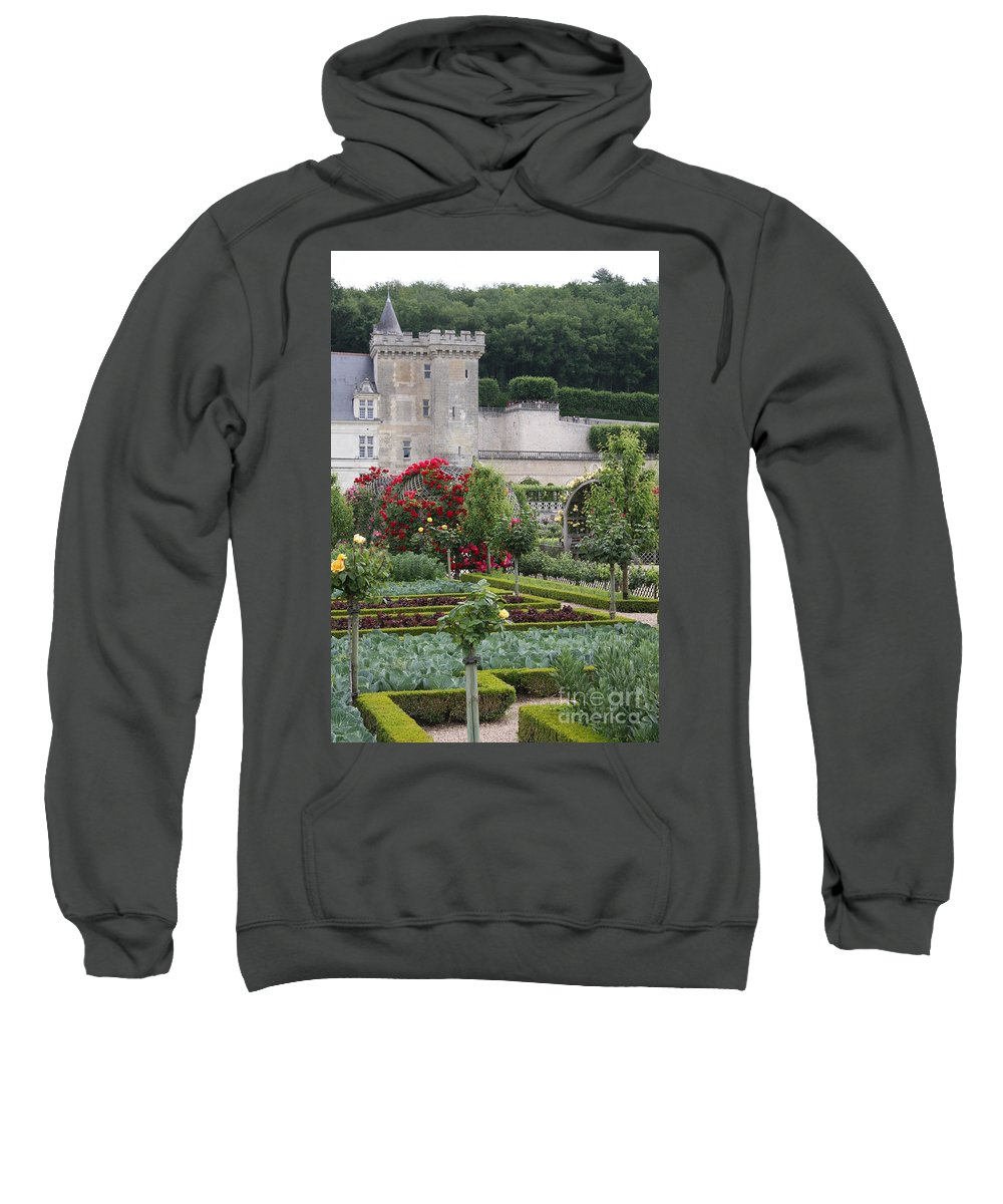 Palace Sweatshirt featuring the photograph Chateau Villandry And The Cabbage Garden by Christiane Schulze Art And Photography