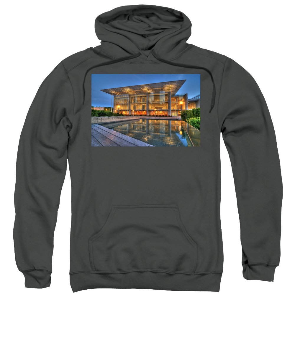 Chicago Sweatshirt featuring the photograph Chicago Modern Art Wing by Patrick Warneka