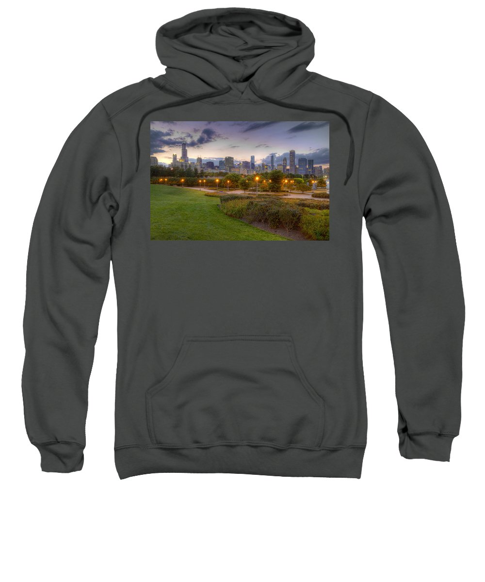 Chicago Sweatshirt featuring the photograph Chicago Skyline by Lindley Johnson