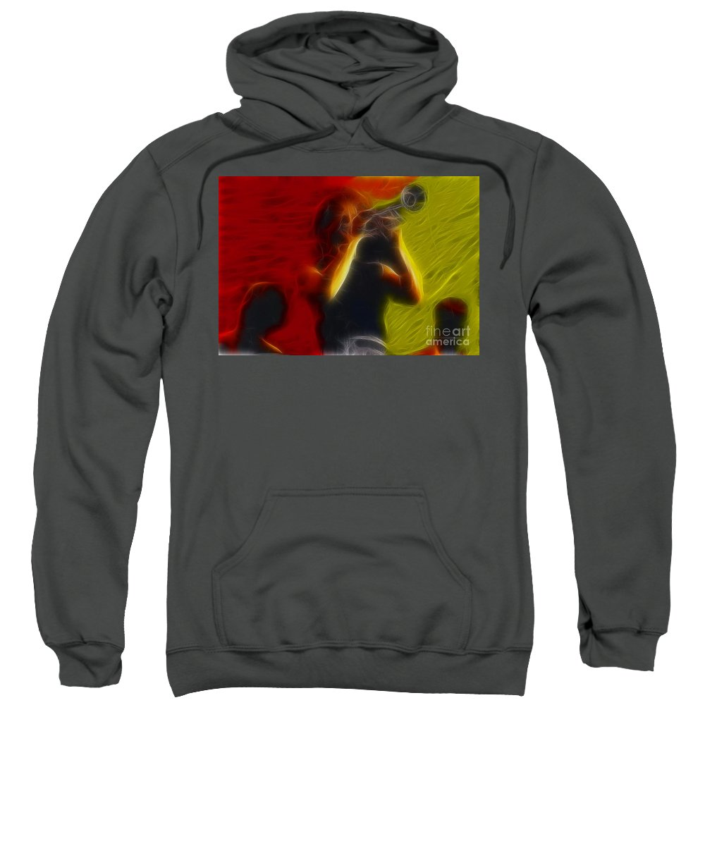 Chicago Sweatshirt featuring the photograph Chicago19-lee-2-fractal by Gary Gingrich Galleries