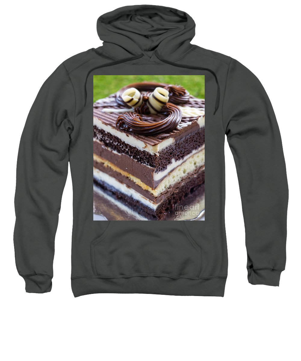 Cake Sweatshirt featuring the photograph Chocolate Temptation by Edward Fielding