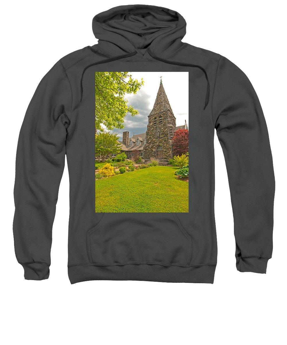 christ Church Episcopal - Waltham Sweatshirt featuring the photograph Christ Church Episcopal - Waltham by Paul Mangold