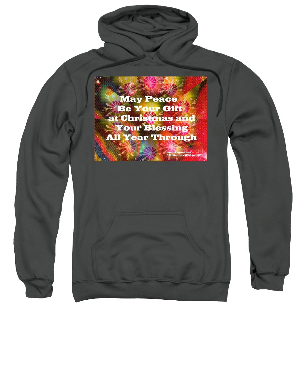 Modern Sweatshirt featuring the painting Christmas Cards And Artwork Christmas Wishes 15 by Gert J Rheeders