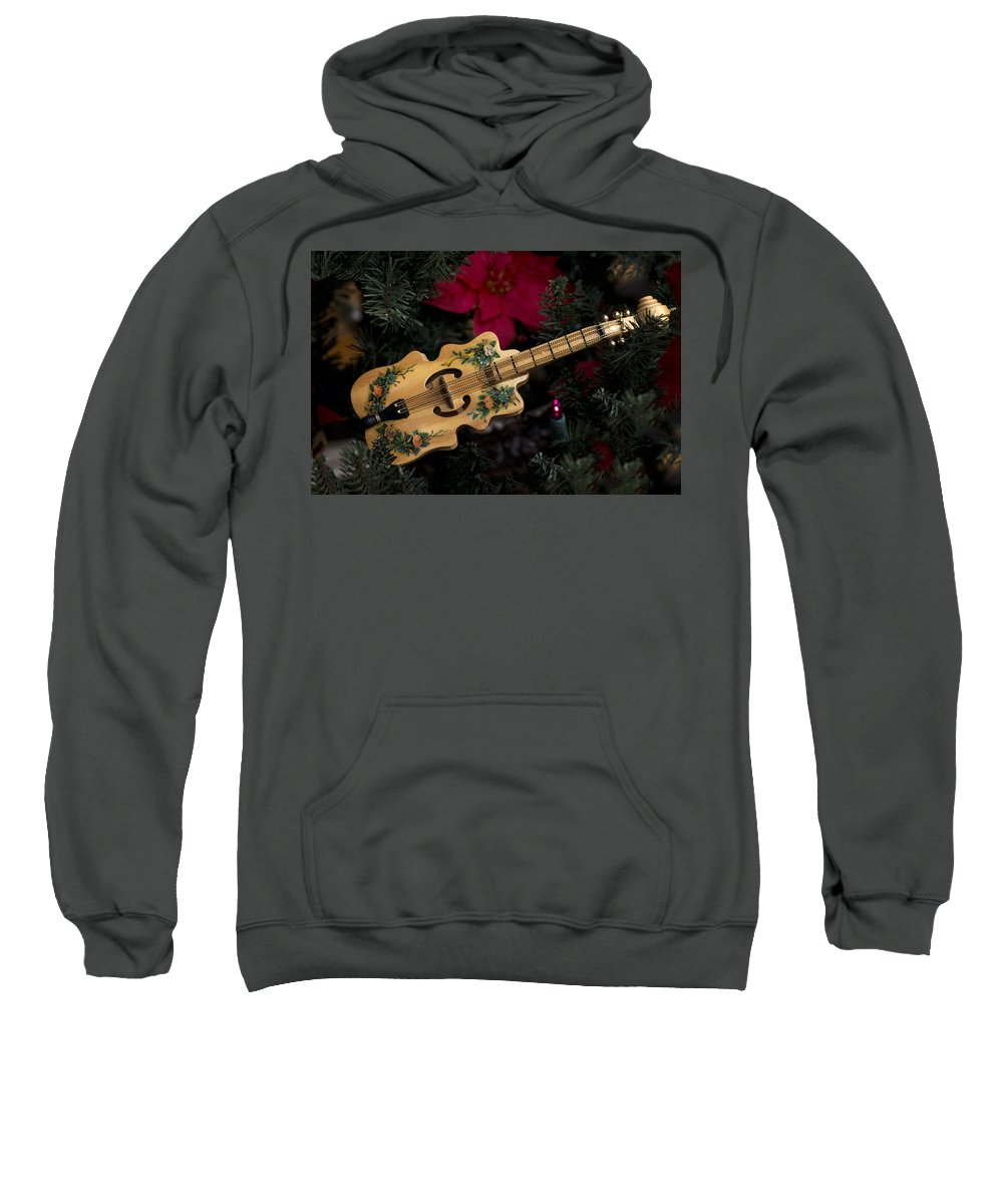 Music Sweatshirt featuring the photograph Christmas Music by Jayne Gohr
