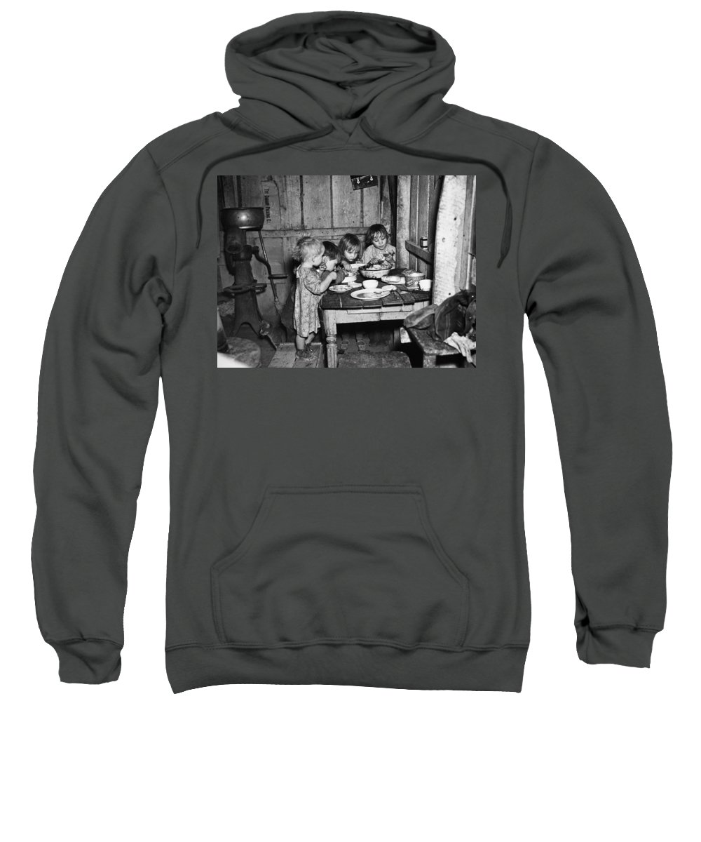 1936 Sweatshirt featuring the photograph Christmas Poor, 1936 by Granger