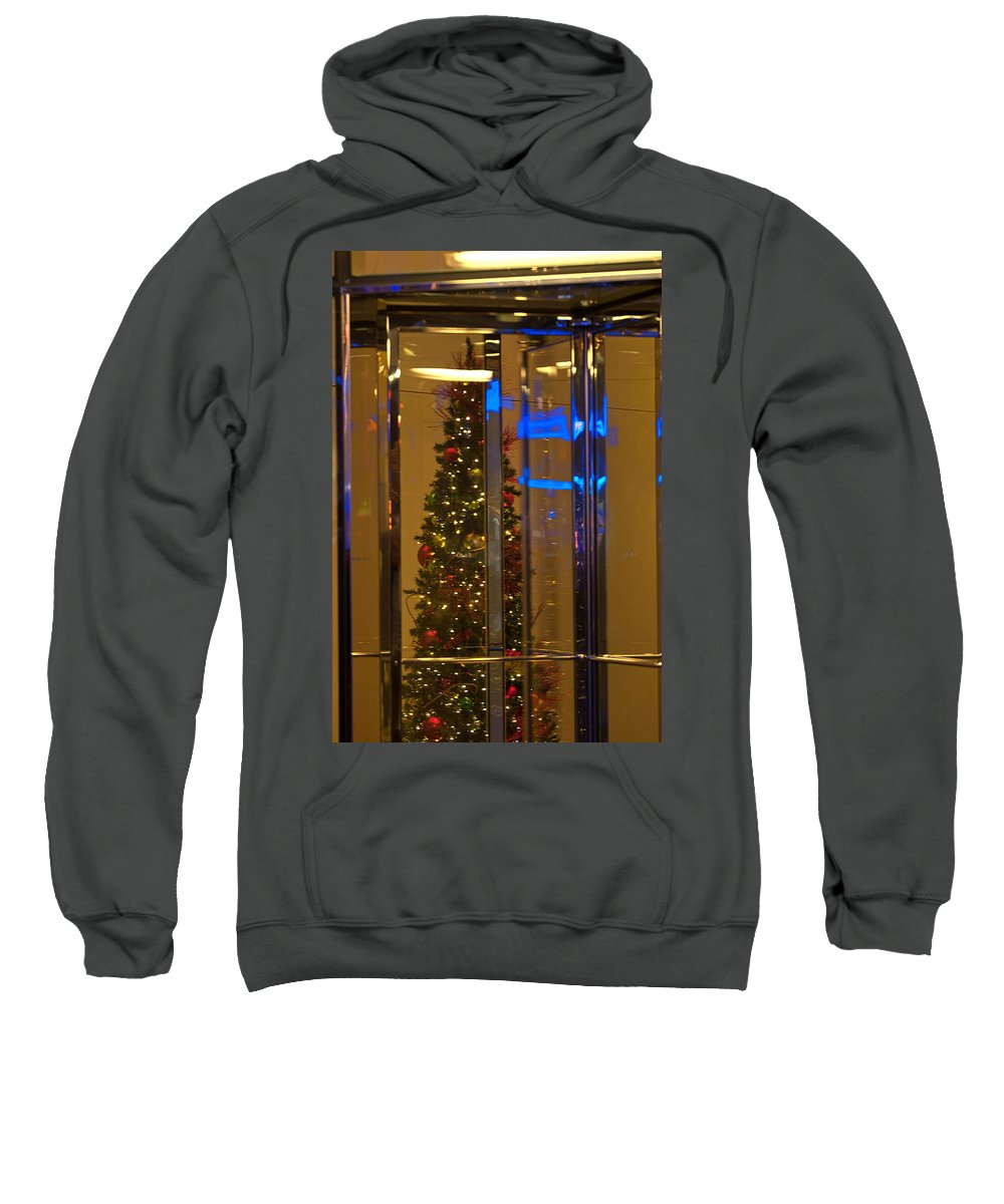 """""""new York City"""" Sweatshirt featuring the photograph Christmas Through The Revolving Door by Paul Mangold"""