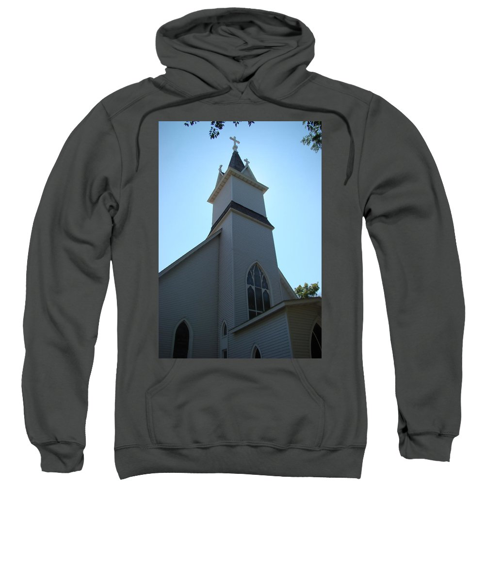 Church Sweatshirt featuring the photograph Church In South Dakota by Cathy Anderson