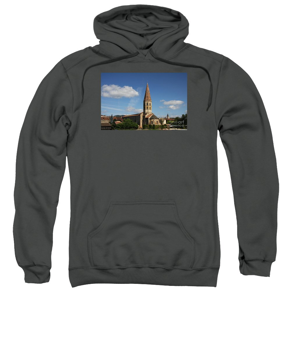 Church Sweatshirt featuring the photograph Church Saint Marcel - Cluny by Christiane Schulze Art And Photography