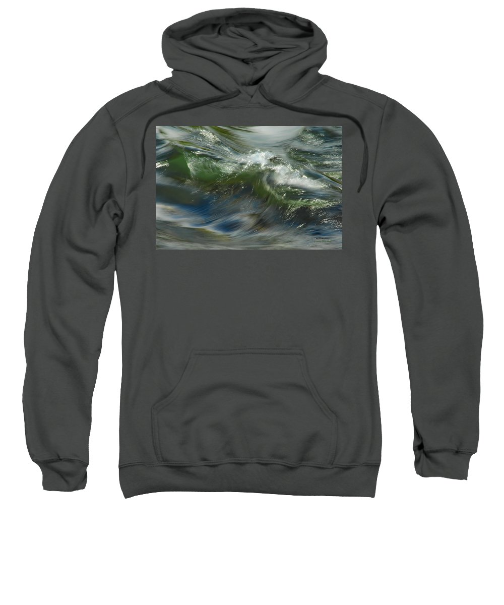 Water Sweatshirt featuring the photograph Churning Waters by Donna Blackhall