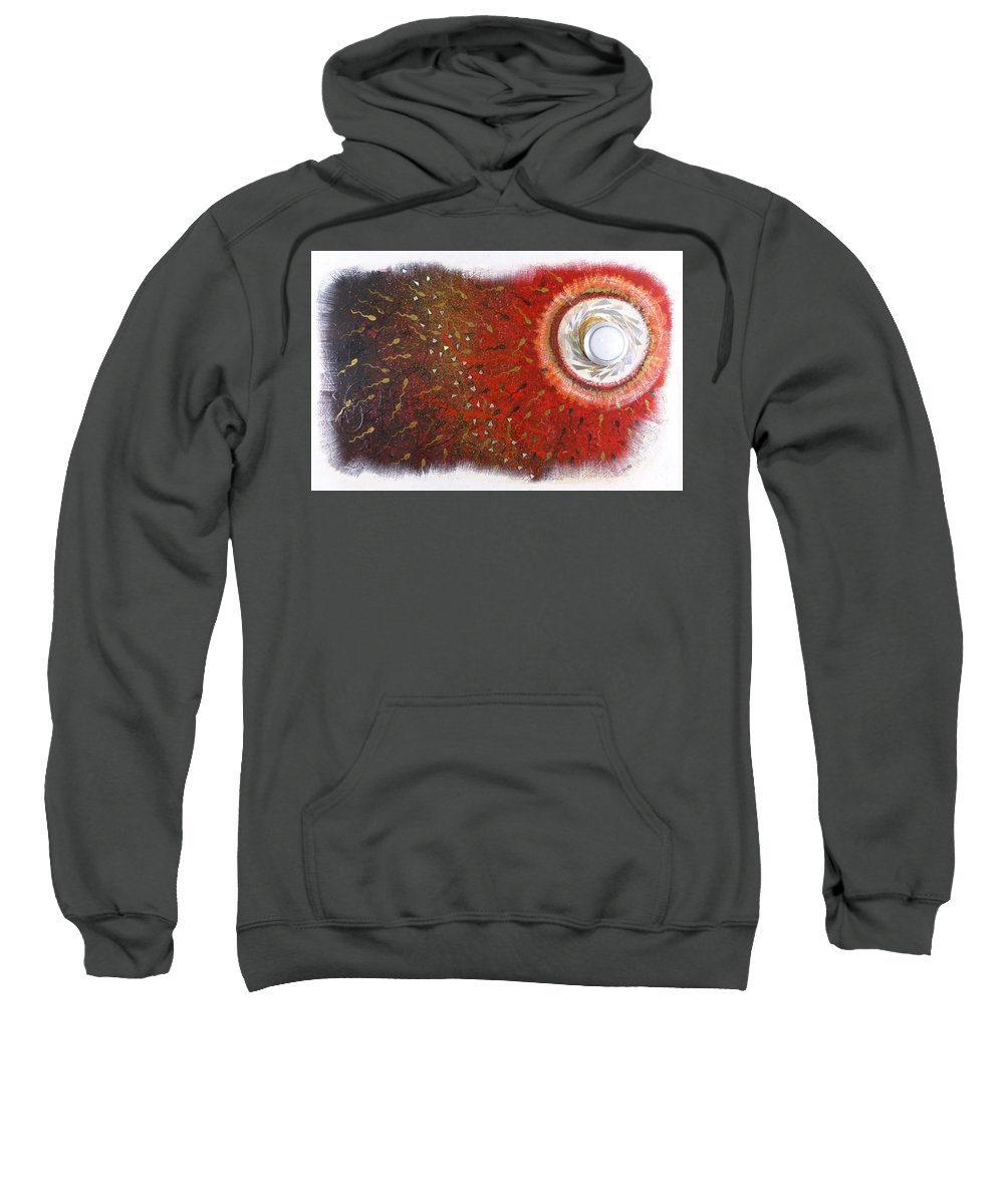 Hanzer Abstract Art Sweatshirt featuring the painting Circle Of Life by Jack Hanzer Susco