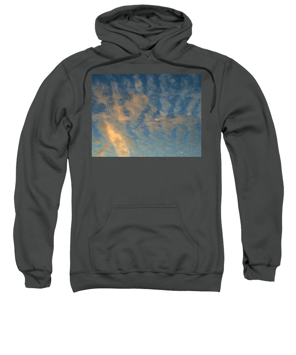 Cirrocumulus Morning Sweatshirt featuring the photograph Cirrocumulus Morning by Ellen Henneke