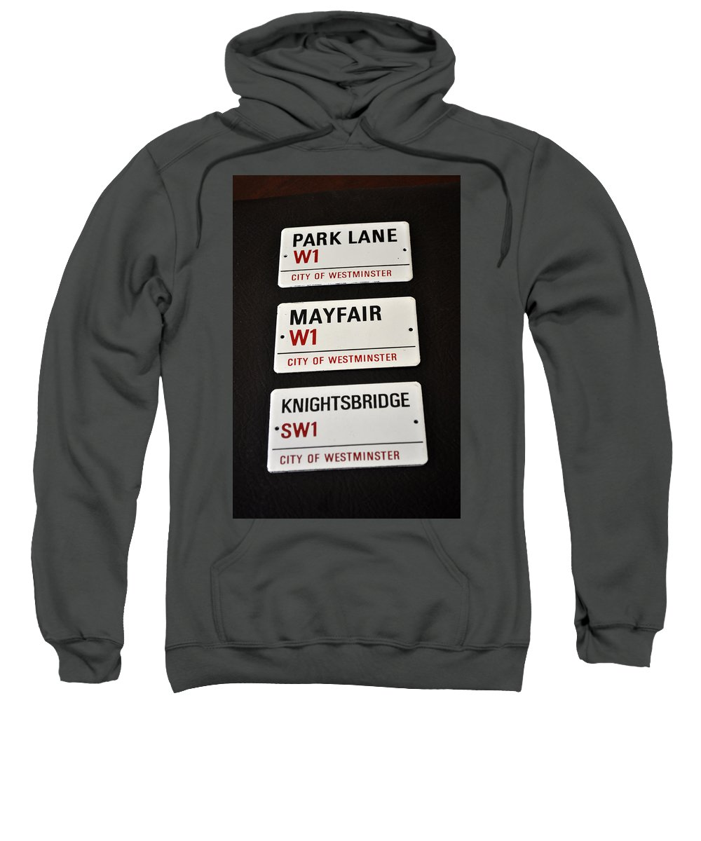 Signs Sweatshirt featuring the photograph City Of Westminster by Jay Milo