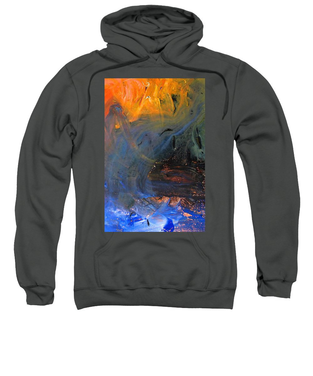 City On Mars Sweatshirt featuring the mixed media City On Mars by Kume Bryant