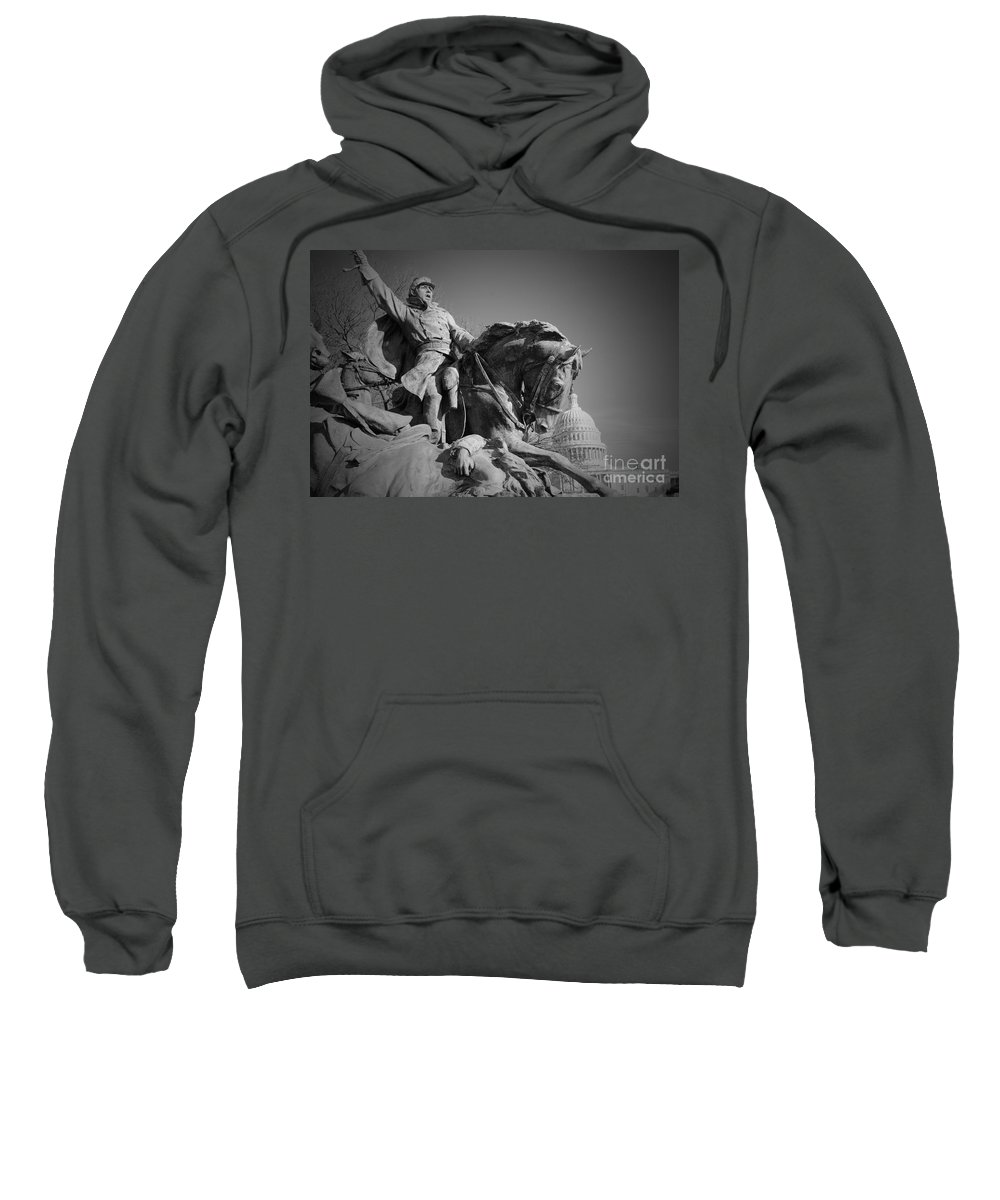 Civil Sweatshirt featuring the photograph Civil War In Washington by Jost Houk