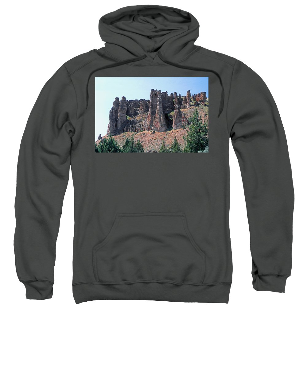 Clarno Palisades Sweatshirt featuring the photograph M-a5706-clarno Palisades by Ed Cooper Photography