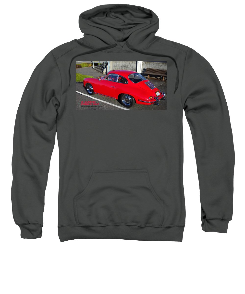 Porsche Sweatshirt featuring the photograph Classic Porsche 356c by Michael Moore