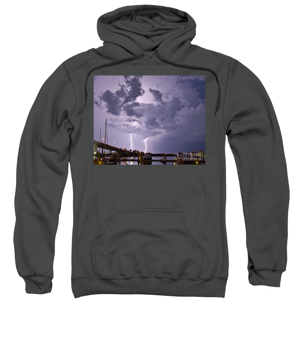 Florida Sweatshirt featuring the photograph Clearwater Harbor by Stephen Whalen