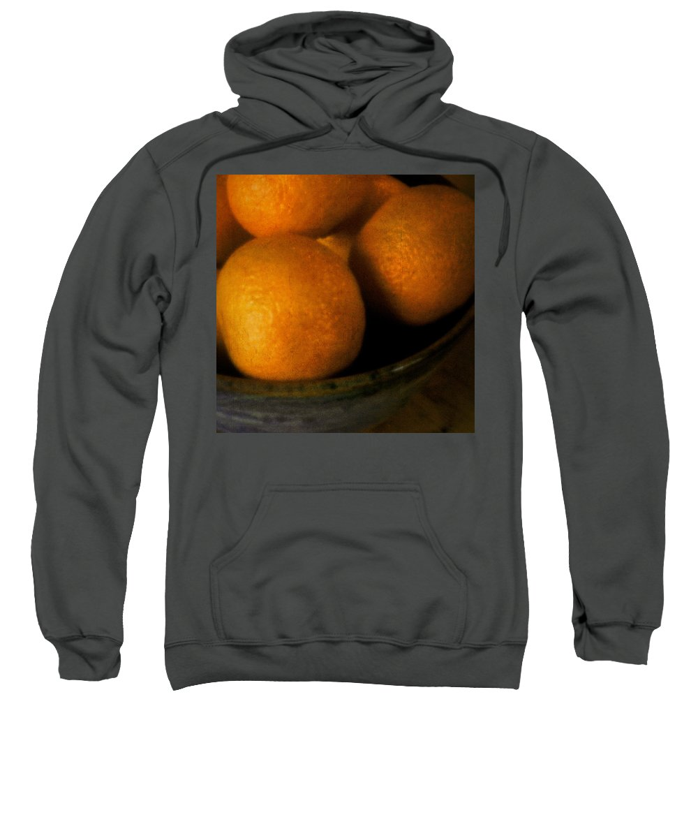Clementine Sweatshirt featuring the photograph Clementines by David Stone