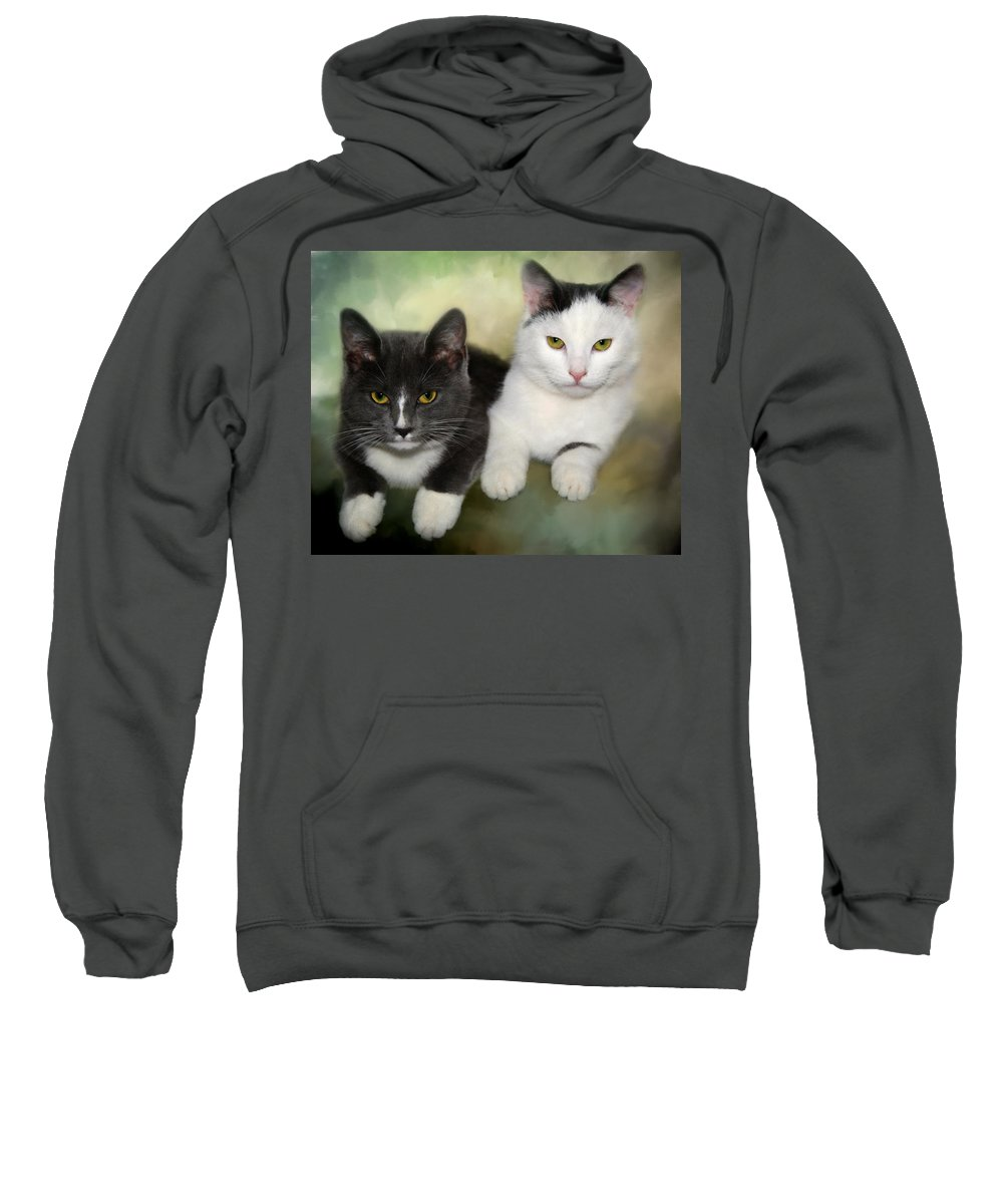 Animals Sweatshirt featuring the photograph Close Friends by Annie Snel