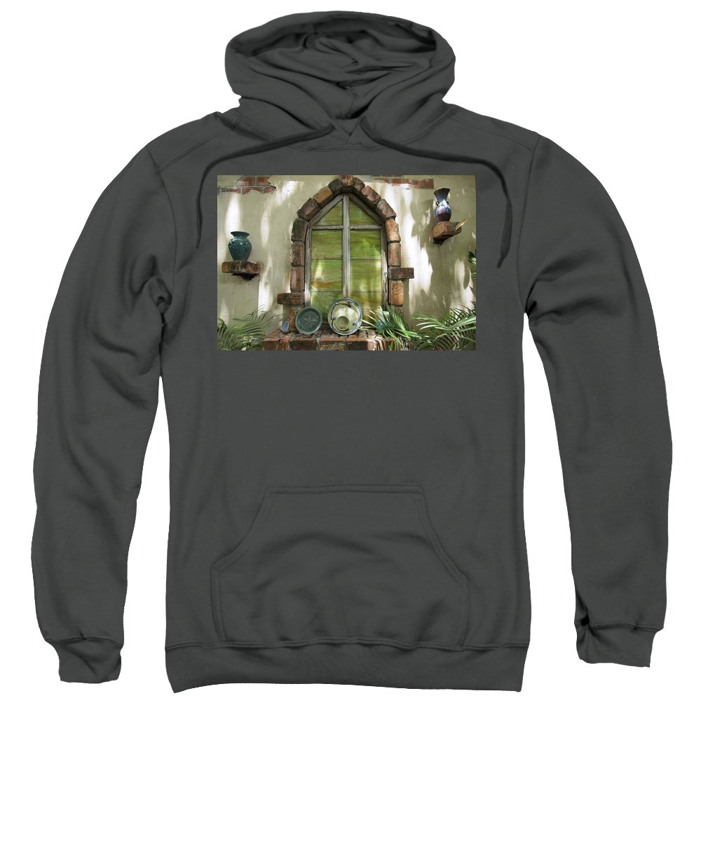 Closed Window Sweatshirt featuring the photograph Closed Window by Manuel Lopez