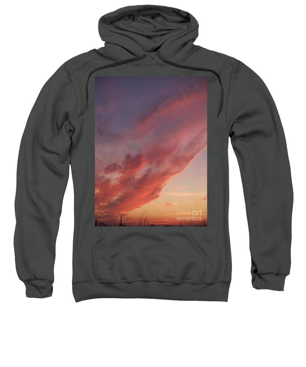 Landscapes Sweatshirt featuring the photograph Cloud At Sunset by Eric Schiabor
