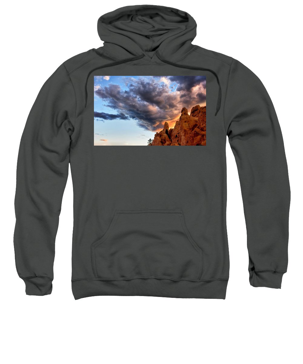 Garden Of The Gods Sweatshirt featuring the photograph Cloud Explosion by Ronda Kimbrow
