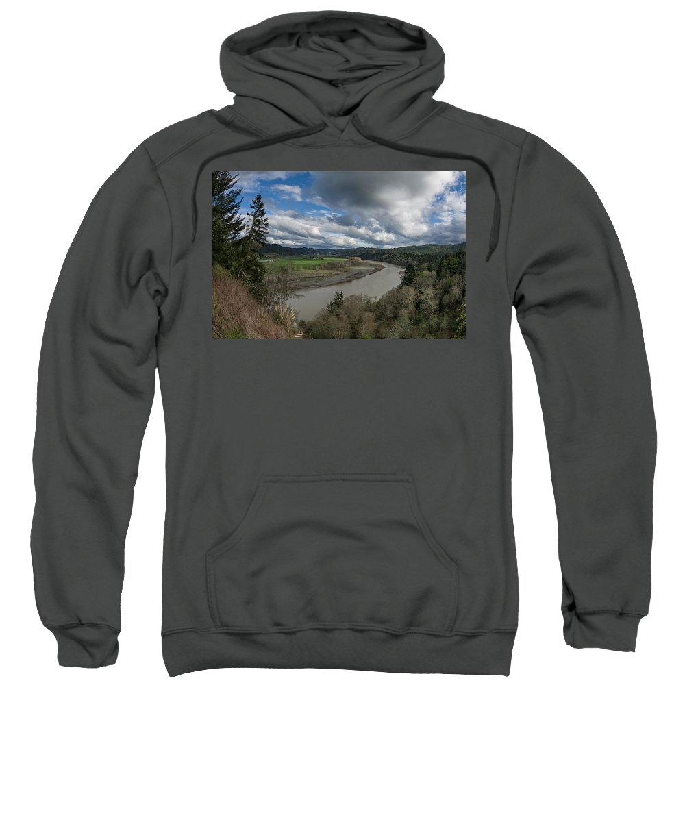 Dramatic Sky Sweatshirt featuring the photograph Clouds Above Eel River by Greg Nyquist