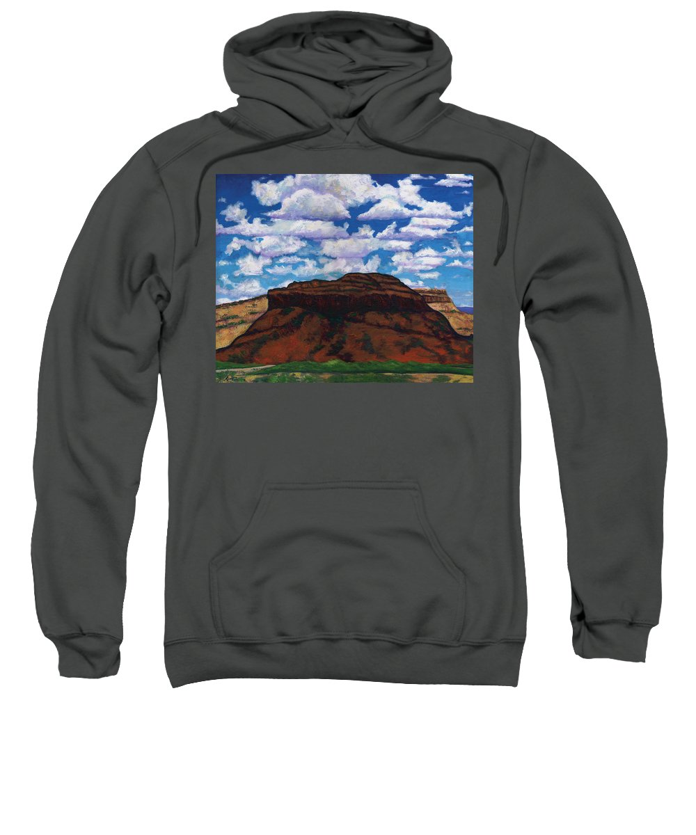 Lanscape Sweatshirt featuring the painting Clouds Over Red Mesa by Joe Triano