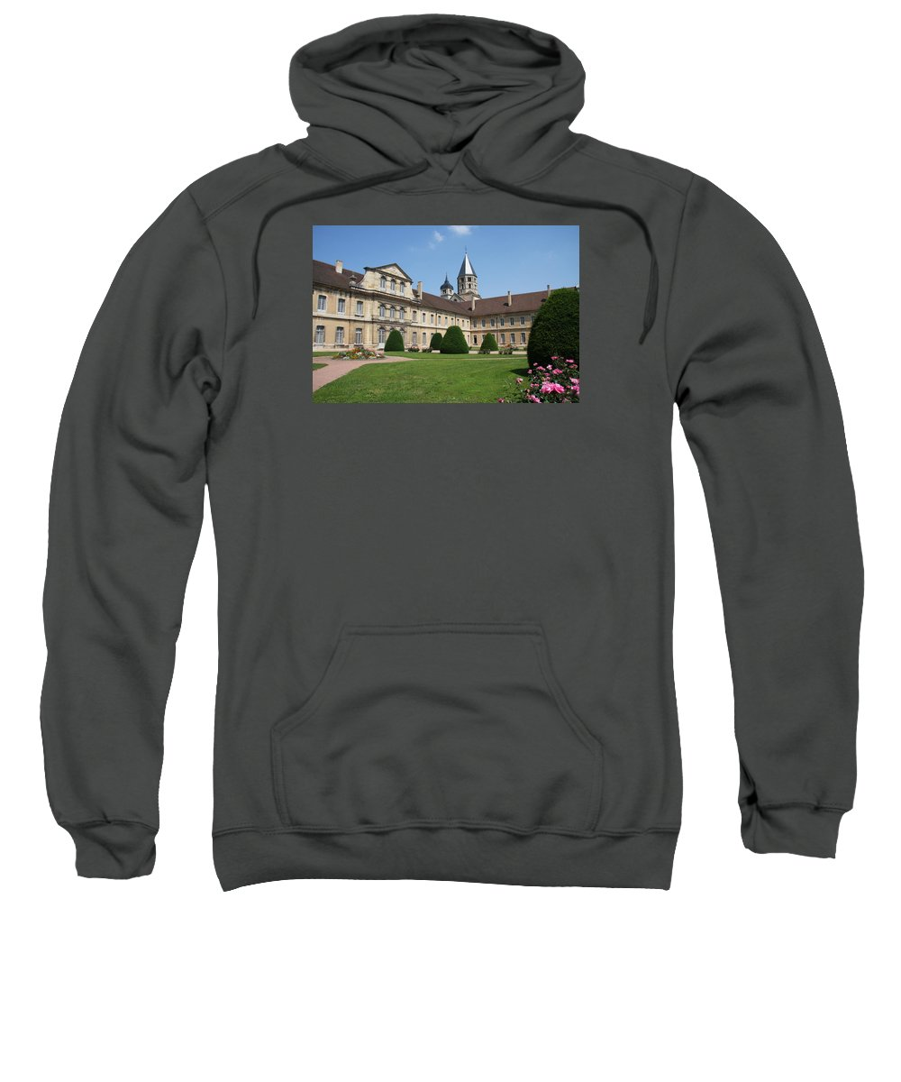Cloister Sweatshirt featuring the photograph Cluny Abbey - Burgundy by Christiane Schulze Art And Photography