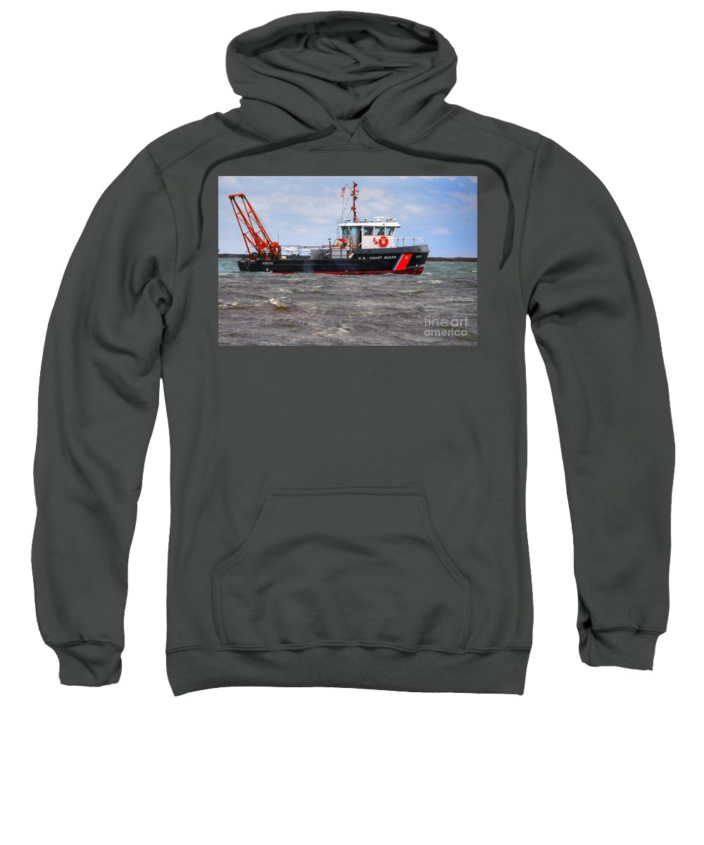 United Sweatshirt featuring the photograph Coast Guard by Kathleen Struckle