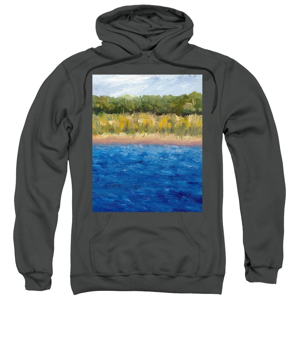 Lake Sweatshirt featuring the painting Coastal Dunes 2.0 by Michelle Calkins