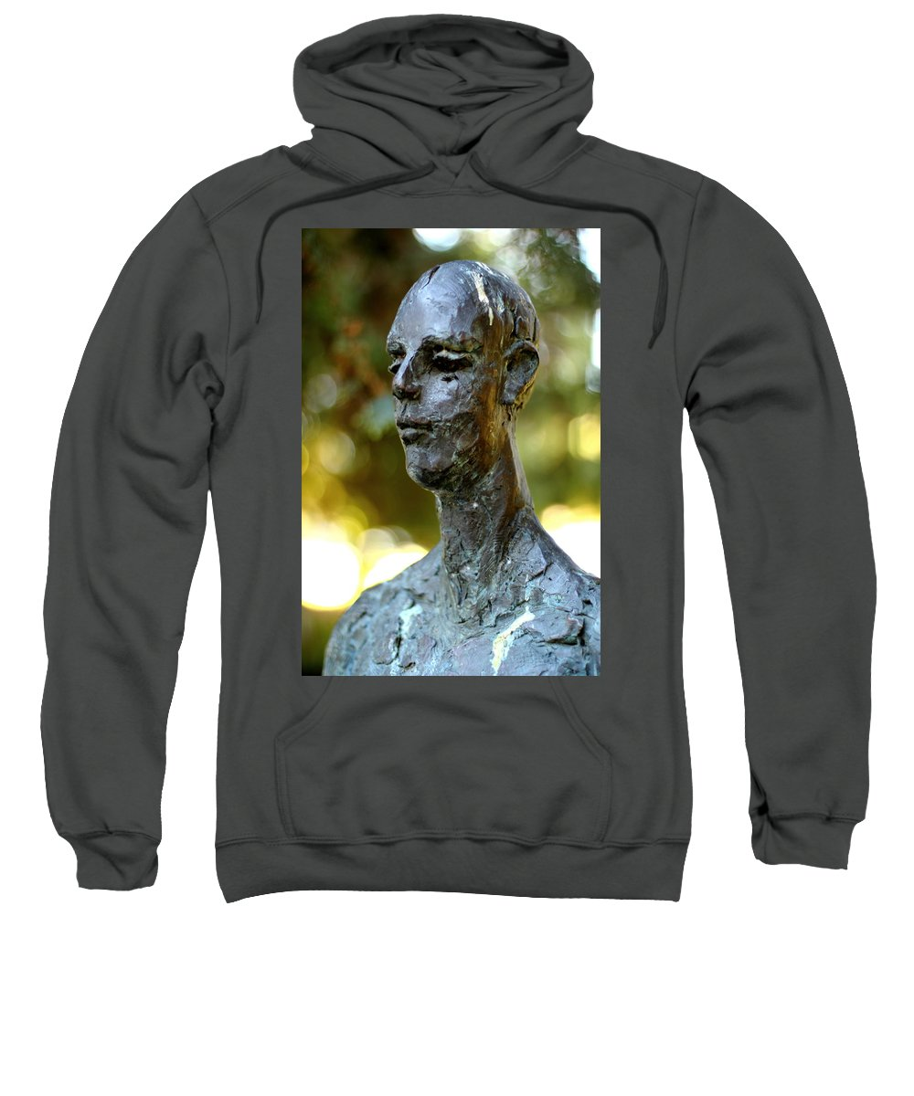 Bronze Man Sweatshirt featuring the photograph Cold Stare by Scott Hill