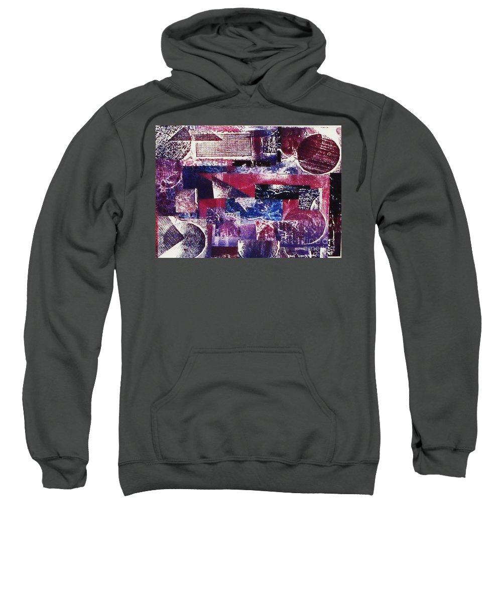 Print Making Sweatshirt featuring the relief Collage by Yael VanGruber