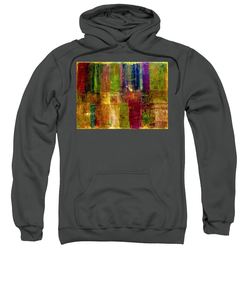 Abstract Sweatshirt featuring the painting Color Panel Abstract by Michelle Calkins