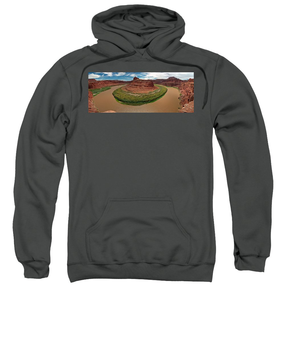 3scape Photos Sweatshirt featuring the photograph Colorado River Gooseneck by Adam Romanowicz