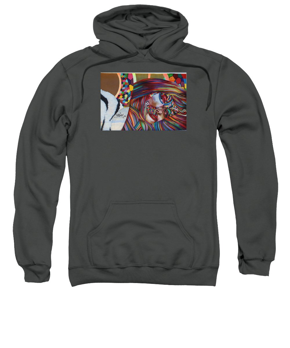 Graffiti Sweatshirt featuring the photograph Colored by Chuck Hicks